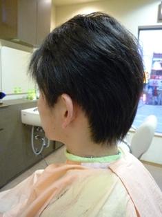男性縮毛矯正後ワックスを使用した状態です。 【縮毛矯正の疑問解決集】