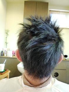 縮毛矯正後ワックスを使用した状態です。 【縮毛矯正の疑問解決集】